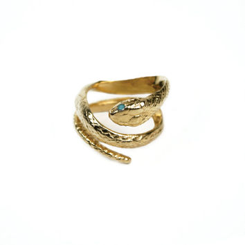 Snake Ring / Serpent Coil Ring /Solid Coil Gold Snake Ring / HANDMADE IN NYC