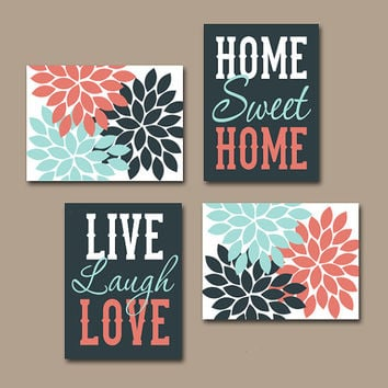 Wall art canvas or prints live laugh love from trm design Home sweet home wall decor