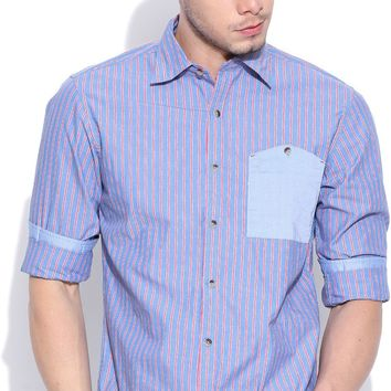 John Players Men's Striped Casual Shirt - Buy 1A2 John Players Men's Striped Casual Shirt Online at Best Prices in India | Flipkart.com