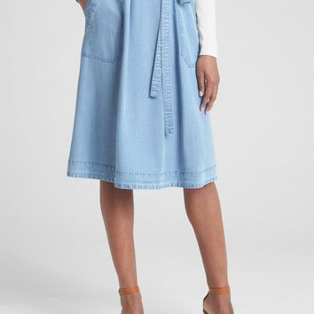 A-Line Utility Skirt in TENCEL™ | Gap