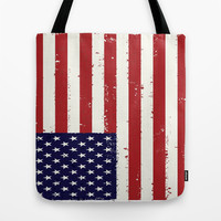 american flag all over print Tote Bag by Designbook