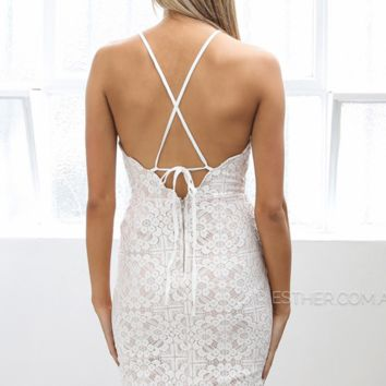 pre-order - tyler lace dress - ivory
