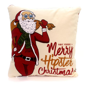 Christmas Merry Hipster Pillow Christmas Decor