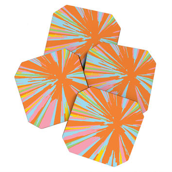 Rosie Brown Pin Wheel Coaster Set