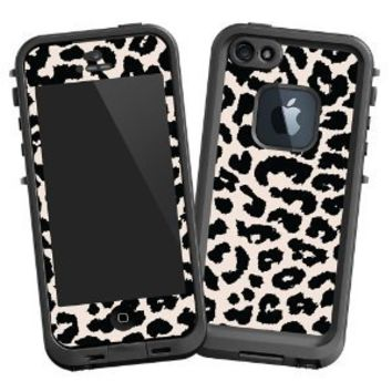 "Black and White Leopard ""Protective Decal Skin"" for LifeProof fre iPhone 5/5s Case"