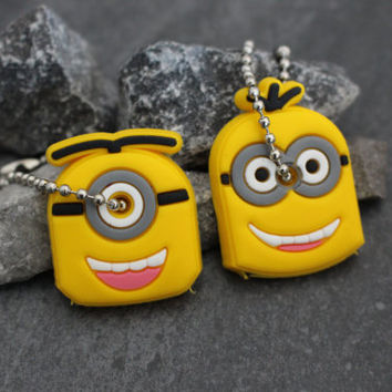 Minions Key Cover, Womens Keychains, Couple Keychains, Keyfob, Key Fob, Children Keychain, Minions Decorations, Despicable Me Party