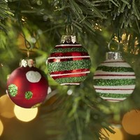 Mini Glass Ornament Set - Stripes & Dots$10.36$12.95