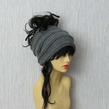 Charcoal  Dreadlocks accessory Mens dreadlock tube hat Womens Hat plain hair wrap, dread band tube hat