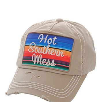 Hot Southern Mess Khaki Patch Adjustable Baseball Cap KBV1070(KHA)
