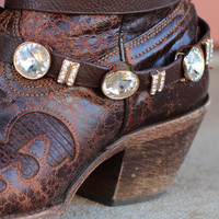 Boot Belt with Bling {Brown}
