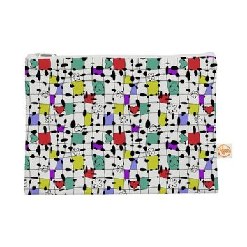 Kess InHouse My Happy Squares Everything Bag Flat Pouch Julia Grifol, 8.5 by 6-Inch (JG1020AEP01)