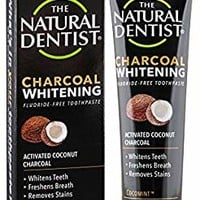 The Natural Dentist Charcoal Fluoride-Free Safe To Use Toothpaste 5 Ounce