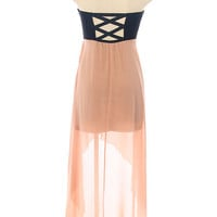 Hot Mess Dress in Peachy Beige