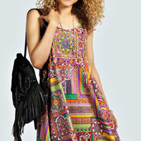 Khloe Strappy Back Paisley Swing Dress