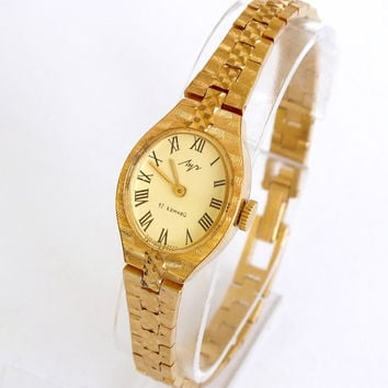 Mint Condition Women's Watch  LUCH (Ray). Gold plated Watch Bracelet. Ladies Mechanical Wrist watch. Great Gift For Her.