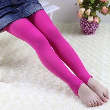 Free shipping thin section velvet colors child 4-8 years old girls dancing leggings