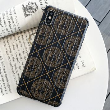 Fashion VERSACE Case For iPhone 6 6s 6plus 6s-plus 7 7plus iphone 8 iphone X XS Max XR