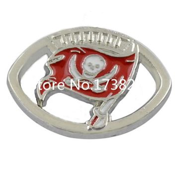 Tampa Bay Buccaneers Charm Sport Team Logo Bracelet Connector Alloy Plated Jewelry