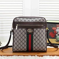 GUCCI Woman Men Leather Fashion Crossbody Shoulder Bag Messenger Bag