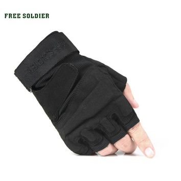outdoor sport camping hiking riding climbing tactical gloves cycle gloves men's glove half finger gloves classic