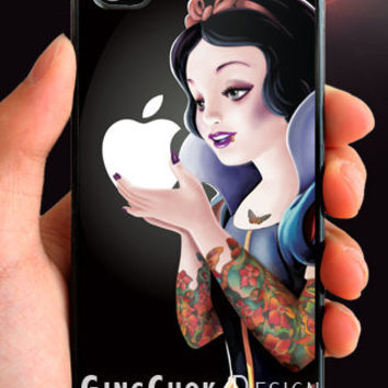 Tattoo art painting iPhone 4 case, iPhone case for iPhone 4 or iPhone 4S. Black Case.