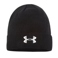Under Armour Women Men Embroidery Winter Beanies Knit Hat Cap