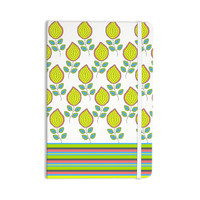 "Nandita Singh ""Yellow Leaves"" Bright Floral Everything Notebook"
