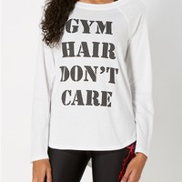 Gym Hair Cross Back Tee
