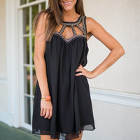 Cut Out On A Whim Dress, Black