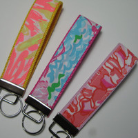 Lily Pulitzer  Fabrics / Key Fob Wristlet / Sorority Gift / Big Little Gift / Preppy / Stocking Stuffer-Choose One