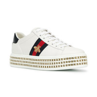 Gucci Ace Crystal Embellished Sneakers - Farfetch