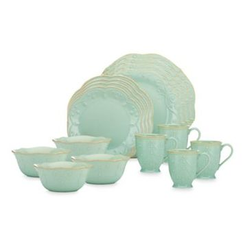 Lenox® French Perle 16-Piece Dinnerware Set in Blue