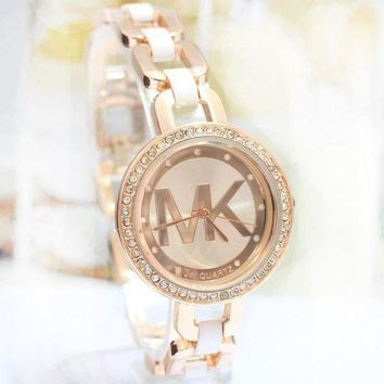 Mk Fashion Rhinestone Quartz Watches Wrist Watch