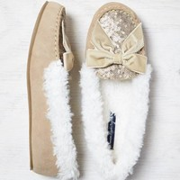 AEO SHIMMERY BOW SLIPPER
