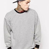 ASOS | ASOS Oversized Sweatshirt With Contrast Quilting at ASOS