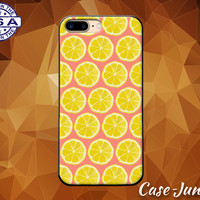 Lemon Pattern Fruit Yellow Coral Slice Tumblr Cute Case iPhone 5 5s 5c iPhone 6 and 6+ and iPhone 6s iPhone 6s Plus iPhone SE iPhone 7 +