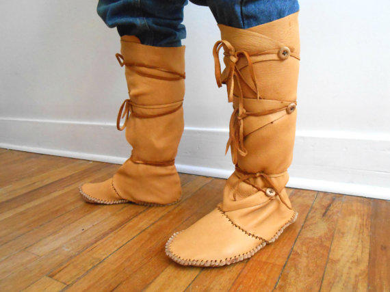 Tall Moccasin Boots Custom Made To From Faemoon Wolf Designs