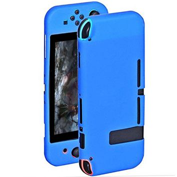 4 Colors New Silicone Rubber Game Switch Case Cover Game Control Console Protector Soft Skin Shell for Nintendo Switch