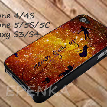 Peter Pan Quote Disney, peter pan case, iphone 4/4S/5/5S/5C, Samsung Galaxy S3/S4, iPod Touch 4/5