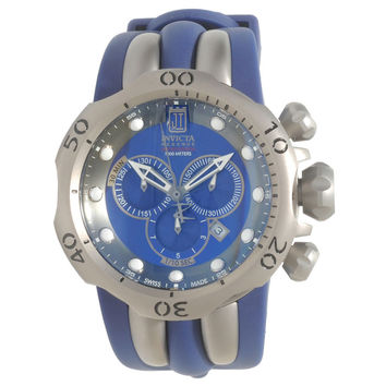 Invicta 14415 Mens Jason Taylor Venom Chronograph Blue Dial Blue Rubber Strap Dive Watch