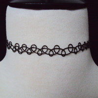 90s Tattoo Choker Choose Your Color ~ Choker Necklace ~ 90s Style Fashion ~ 90s Inspired Jewelry ~ Black Choker ~ Grunge Jewelry ~ Henna