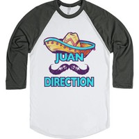 Juan Direction-Unisex White/Asphalt T-Shirt