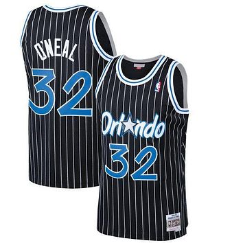 Orlando Magic Shaquille O'Neal Mitchell & Ness Black 1994-95 Hardwood Classics Swingman Jersey