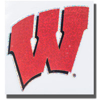 CDI Wisconsin Badger Glitter W Color Shock Decal | University Book Store