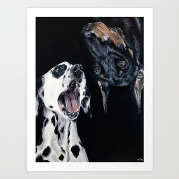 Contrasting Dogs Art Print by Yuval Ozery