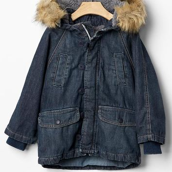 Gap Baby 1969 Denim Snorkel Jacket