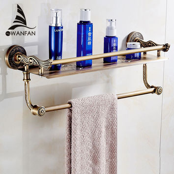 New Wall Mount Layers Storage Basket Shower Room Bathroom Towel Rack Soap Dish Shampoo Rack Bathroom Shelves Sl-7842