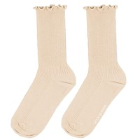 Princess Lulu Ruffle Socks | Beige