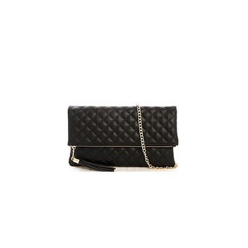 Classic Quilted Foldover Clutch