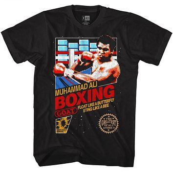 Muhammad Ali Tall T-Shirt Retro Game Cover Black Tee
